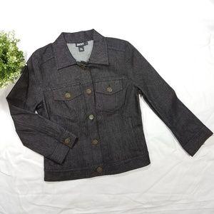 DKNY Dark Wash Stretch Denim Jean Jacket Size 4
